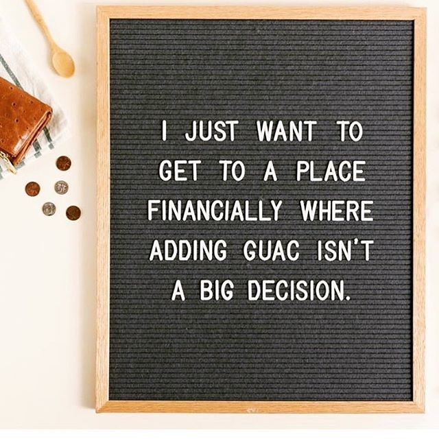 🙌🏼🥑🥑🥑 #financialgoals Add the guac! It's in the budget ✨✨💰 Need help with your budget, make an appointment today or join Financial Bootcamp to get you ready to take control of your FINANCES    evamacias.com