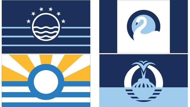 Quatro últimos modelos de bandeira para cidade de Orlando