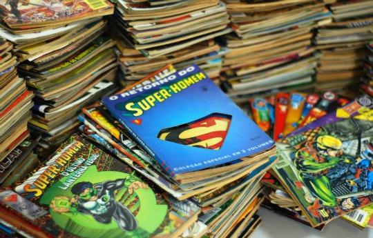 10. Ou de revistas em quadrinhos