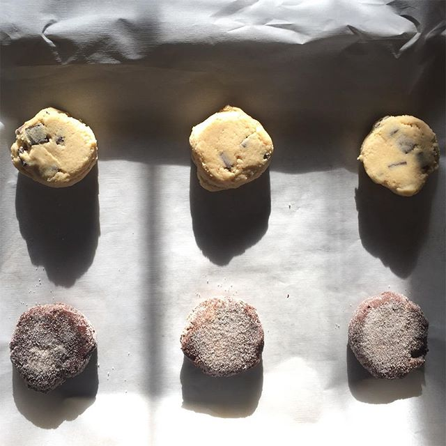 T E S T  B A K E!  Bourbon Chocolate Chip and Spicy Double Chocolate on deck. 🥃🌶🍪 Cayenne, saigon cinnamon, and sugar give these chocolaty cookies a perfect crunchy sweet n spicy finish. And well who can go wrong with bourbon!? . . . . . . . . . . #maedkc #microbakery #cookies #cookiedough #doughcronicles #bakefeed #bourbonchocolatechipcookies #spicychocolate #spicychocolatecookie #yummy #instagood #instafood #foodporn #foodie #bonappetit #igkansascity #instakc #kansascity #kceats #kcfoodie #localkc #madeinkc