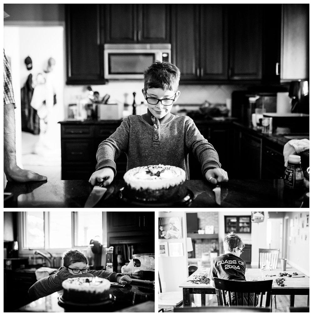 denver candid family photographer boy birthday