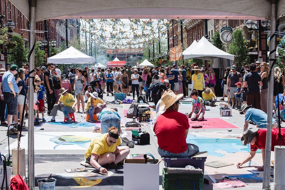Denver's Chalk Art Festival in Larimer Square 2017 as shot by Kristiina Craven Photography.