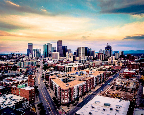@cityofdenver is a fantastic Instagram account to follow--they turn the city of Denver into art!