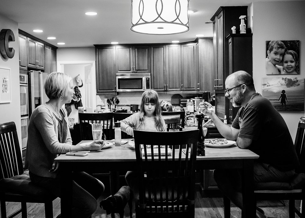 Not sure where Townes is, but the rest of us gathered for a meal, something on my priority list for our unschooling plan in 2018: more family meals. | GettingUnschooled.com