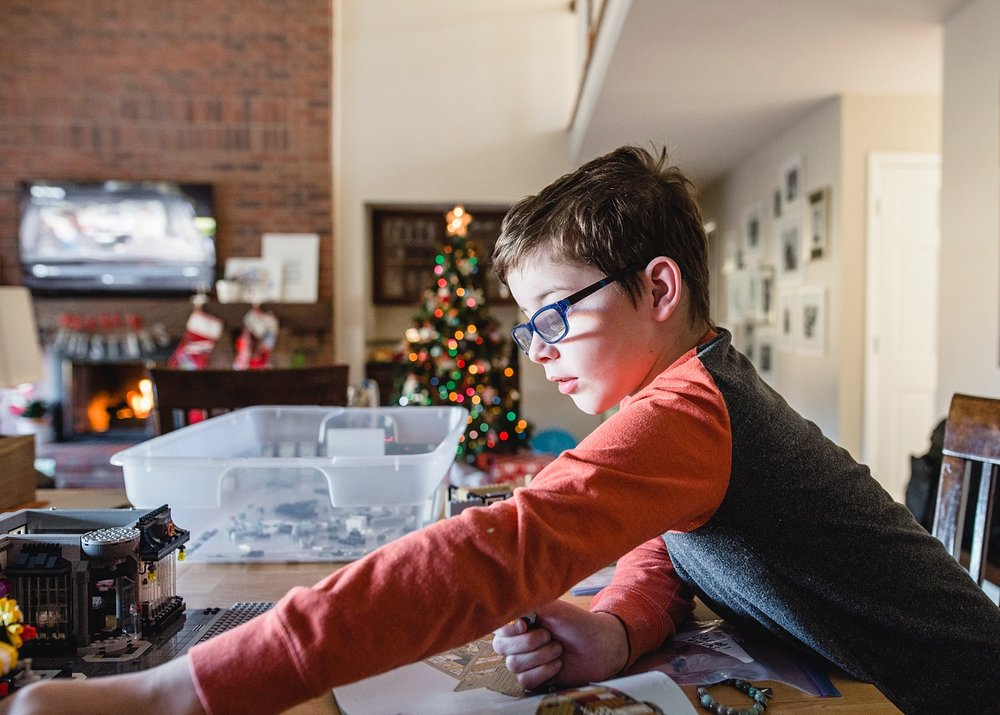 A boy builds a Lego Creative Expert set before Christmas. | GettingUnschooled.com | Week in the Life of an Unschooler