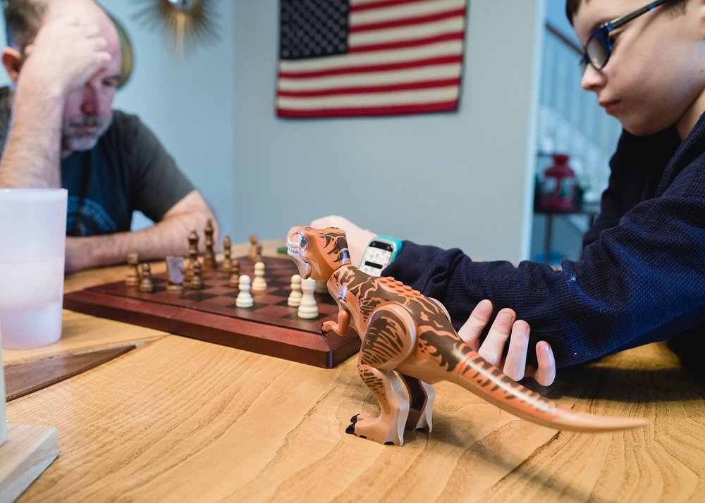 Practicing his chess skills before his first tournament this weekend.  | GettingUnschooled.com | Week in the Life of an Unschooler