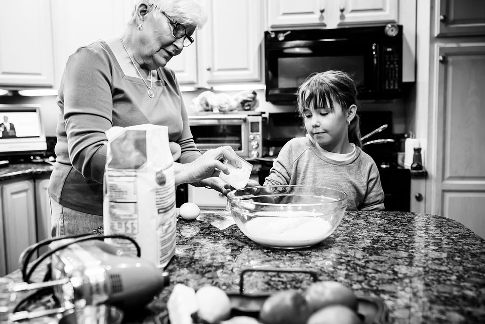 Kate learned to bake bread from her grandma--kids need to socialize with all generations, not just kids their own age!  | GettingUnschooled.com