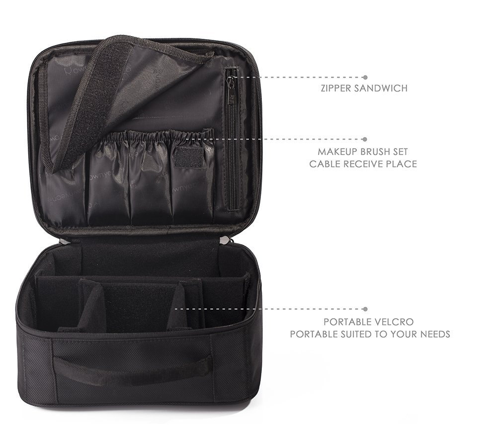 ROWNYEON Portable Travel Makeup Bag Mini-Train Case Mini-I'm hoping this will help me with my aversion to packing toiletries this year!  #roadschoolers #unschoolers | GettingUnschooled.com