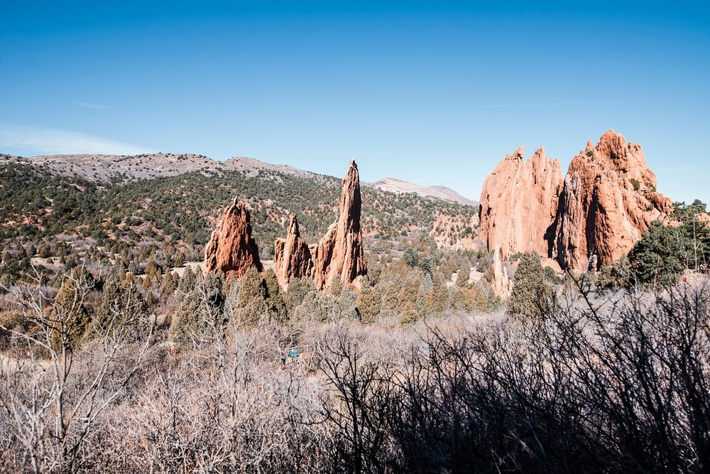 Beautiful red rocks reach for the sky at Garden of the Gods in Colorado Springs.  Top 8 tips on visiting the park are on the blog! | GettingUnschooled.jpg | #colorado #denver #coloradosprings #gardenofthegods #daytrip #unschool #homeschool #roadschool