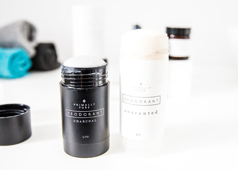 I LOVE this unscented natural deodorant from Primally Pure.  I'm reviewing it and my other favorite products from their skincare line on the blog | GettingUnschooled.com | #greenbeauty #naturalbeauty