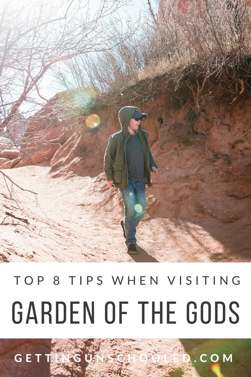 OUr top 8 tips when visiting Colorado's Garden of the Gods in Colorado Springs. | GettingUnschooled.com | #roadschooling #unschooling #homeschooling #denver #colorado