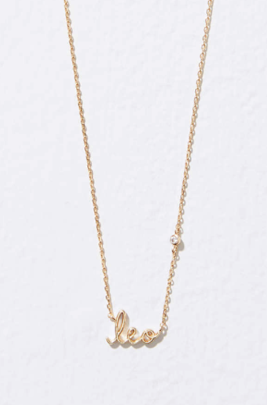 Leo horoscope necklace from Loft--the perfect addition to your spring wardrobe :)  | GettingUnschooled.com
