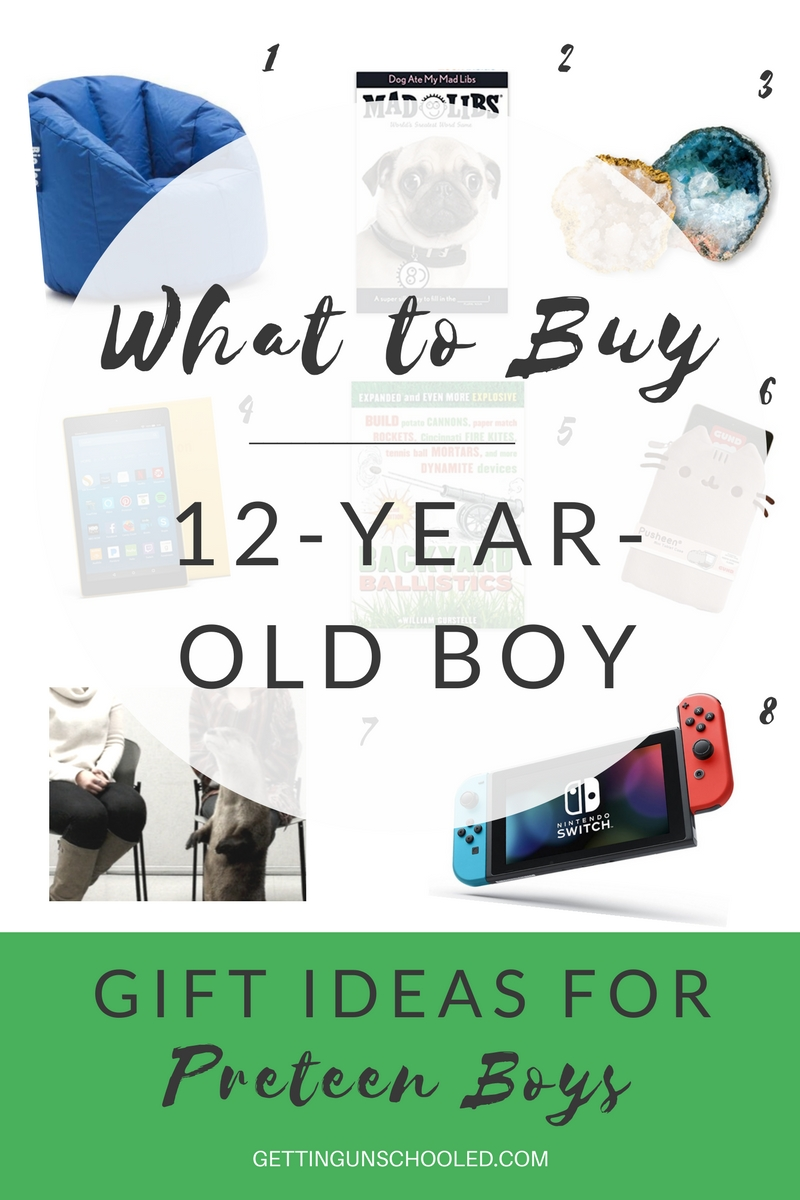 Finding the best gift for a 12-year-old boy can leave you at a loss, but this post had so many great ideas!  Pin it and read it later :) | Getting Unschooled is a family lifestyle blog about unschooling the kids, over 40 fashion, and non-toxic beauty.  Thanks for pinning!!