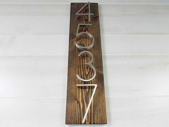 Modern metal house number plaques from Ligno Creations are so cool! A refresh of your front door is a great place to start when decorating for spring. More spring decorating ideas--all from Etsy--are on the blog today!!