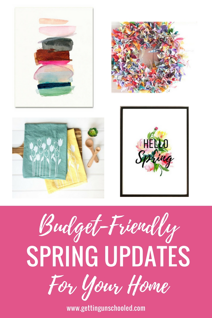 SO CUTE! I love shopping small businesses and I decided to do a roundup of spring decorating ideas all from Etsy!! Come see what goodies I can tempt you with today on the blog :) | Getting Unschooled is a family lifestyle blog about unschooling, homelife, over 40 style, and more! Thanks for pinning :)
