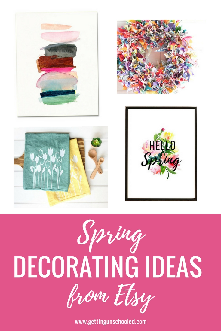 SO CUTE!! Awesome and budget-friendly spring decorating ideas--a roundup today on the blog of all things Etsy :)