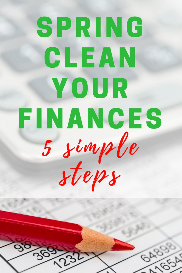 This is Day 5 of the iHomeschoolNetwork's 5-day blog hop and it's time to spring clean your finances!  Do these 5 simple steps and start things fresh :)