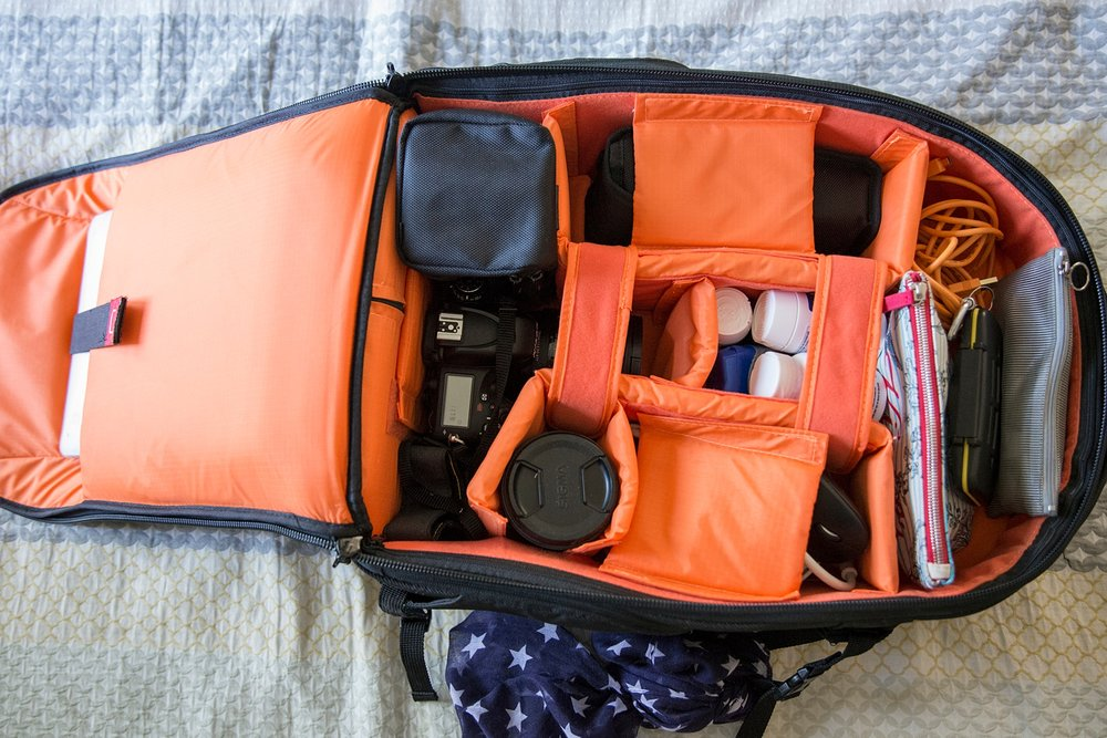 This is my honest review of the AmazonBasics Convertible Rolling Camera Backpack -my new favorite travel bag! I've used this camera backpack on 8 flights since I got it in January and it's a keeper! There are many more pros than cons, but I take you through them all in the post. | GettingUnschooled.com