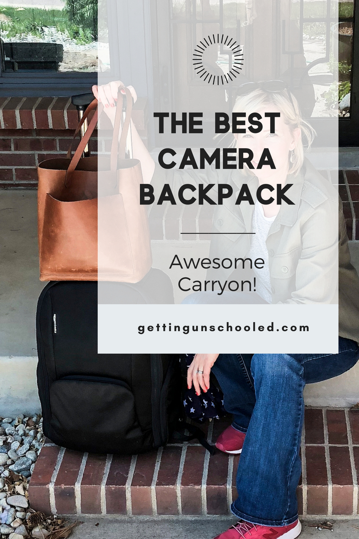 Here's an honest review of the AmazonBasics Convertible Rolling Camera Backpack - my favorite camera backpack to date! I've used this bag on 8 flights since I got it in January and it's a keeper! There are many more pros than cons, but I take you through them all in the post. #traveltips #travelhacks #travelgear #camerabackpack #dslr #amazonbasics | GettingUnschooled.com