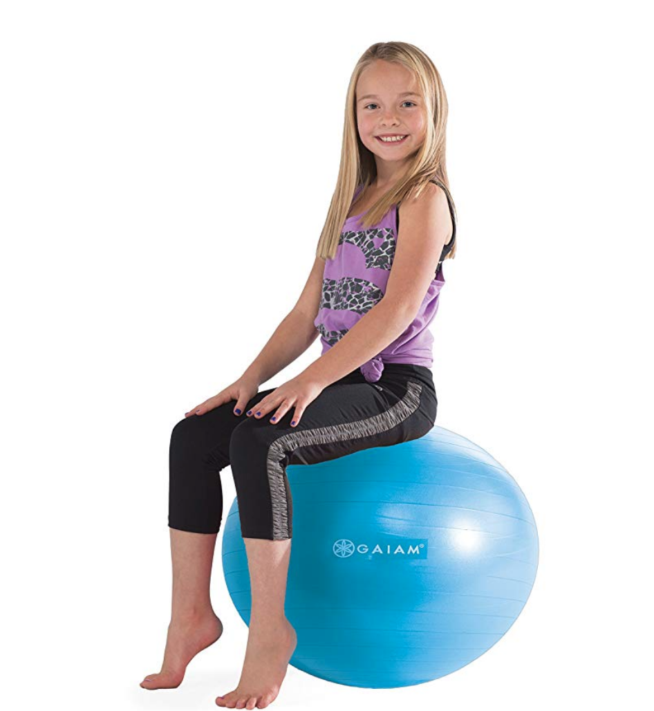 Balance balls are a great addition to any family--and would make a cool gift for an 11-year-old girl who likes to stay active (or who can't sit still LOL).