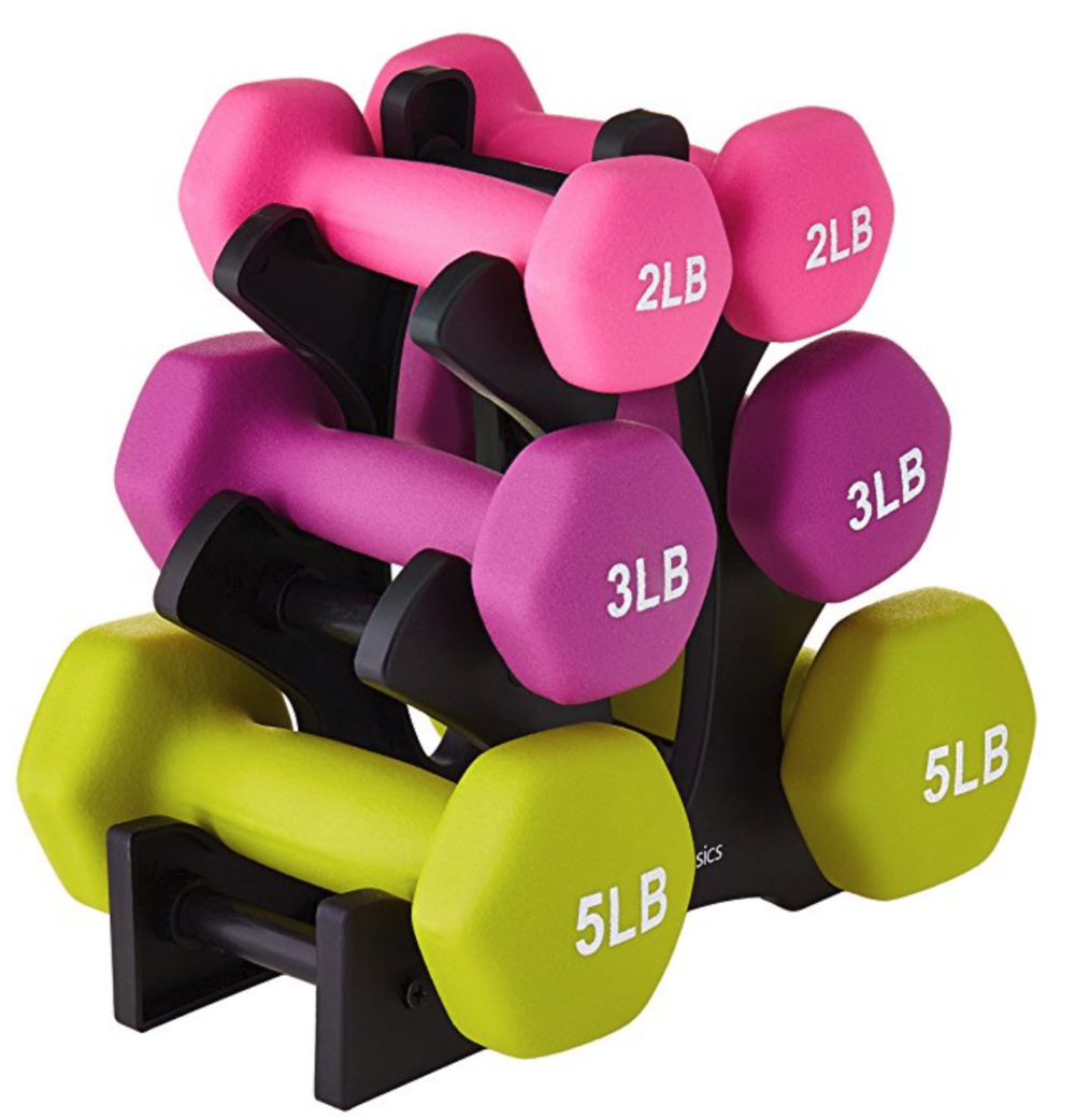 Dumbells are a great gift for a preteen girl--with three different weights and a stand, they're perfect for every skill level.