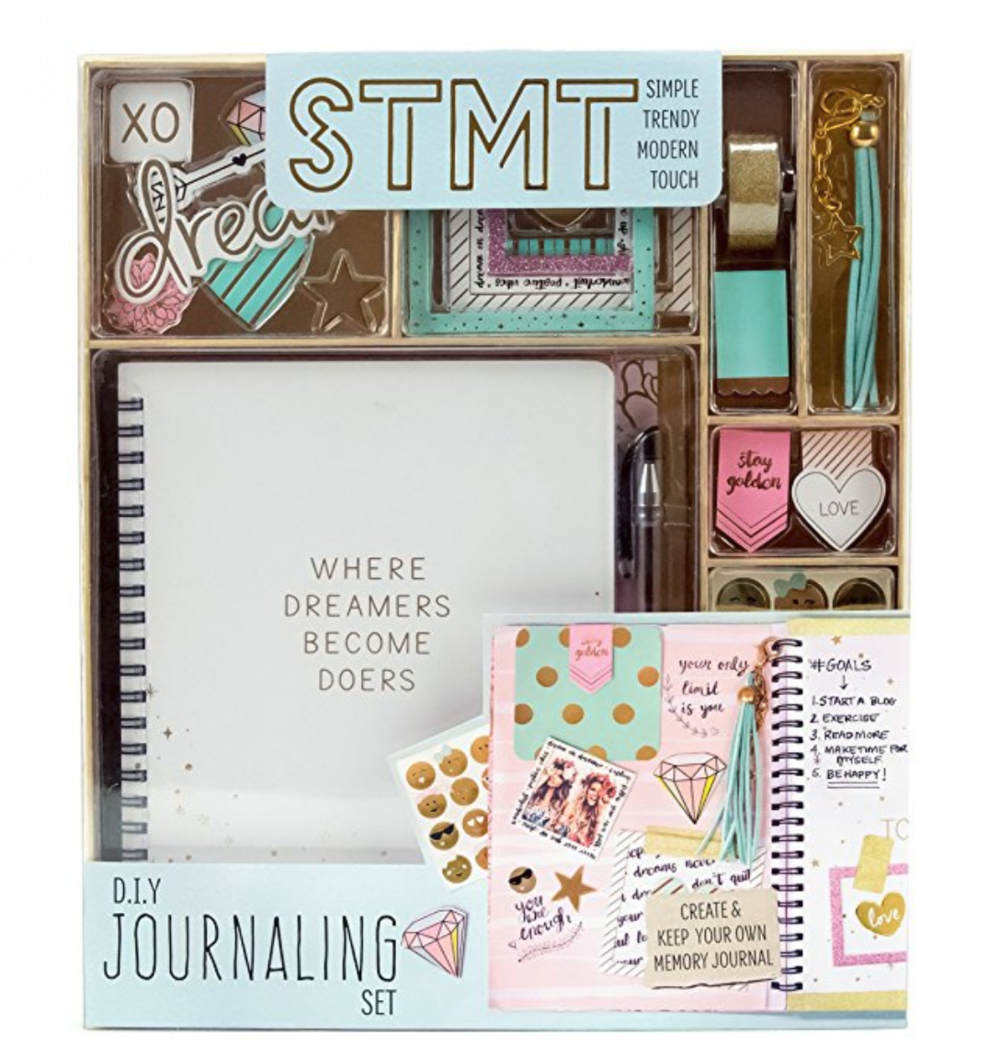 Journaling is all the rage these days and that's not lost on preteen girls!  This set is so fun, yet chic and offers so many options to personalize it.