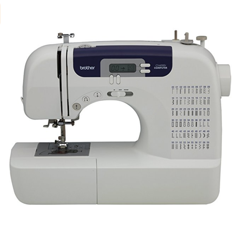"We love our Brother CS6000i sewing machine.  And by ""we"" I mean ""Kate"" LOL  Because I couldn't sew to save my live!"