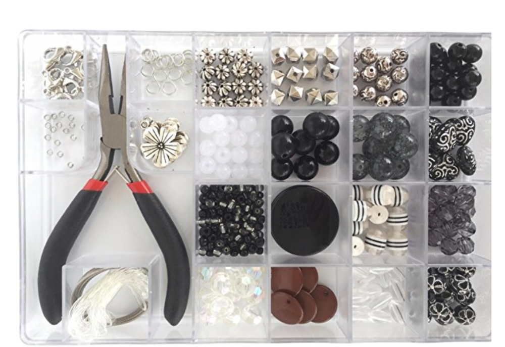 I love how this set comes with a nice system to keep things organized--I think a lot of 11-year-old girls would love this set.  What fun to be able to create one of a kind jewelry for yourself!