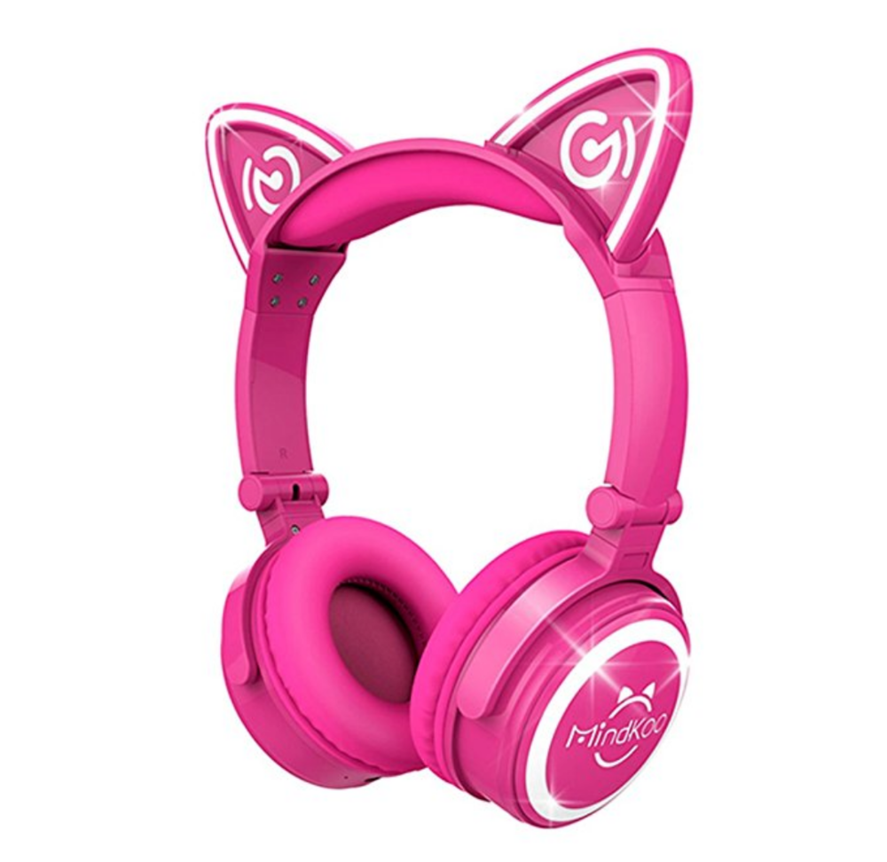eleven seems like the perfect age to sport these adorable cat headphones one of