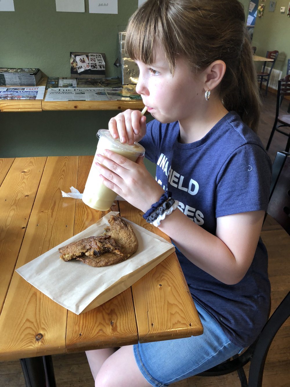 How we homeschool--the week in the life of an unschooler--is up on the blog today!  Kate enjoyed her treats at Numinous Coffee Roasters.