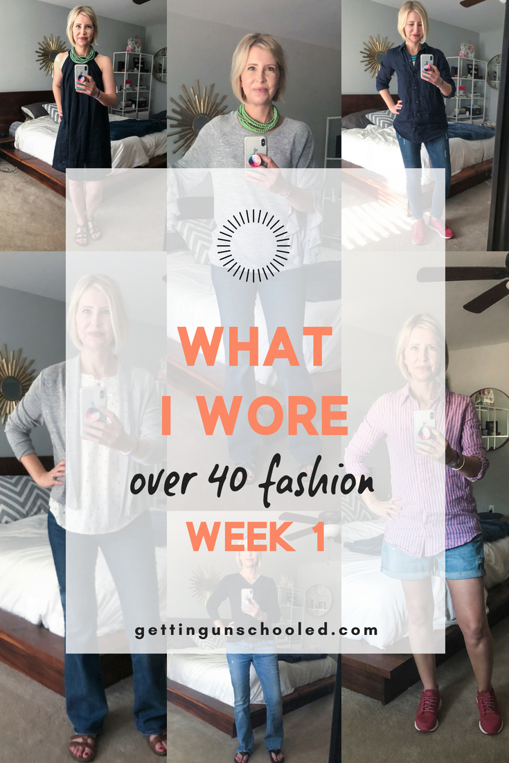 What I wore this week inspire other women that fashion and style over 40 is fun and easy! PLUS, it's a form of self-care---an awesome mental health boost :)