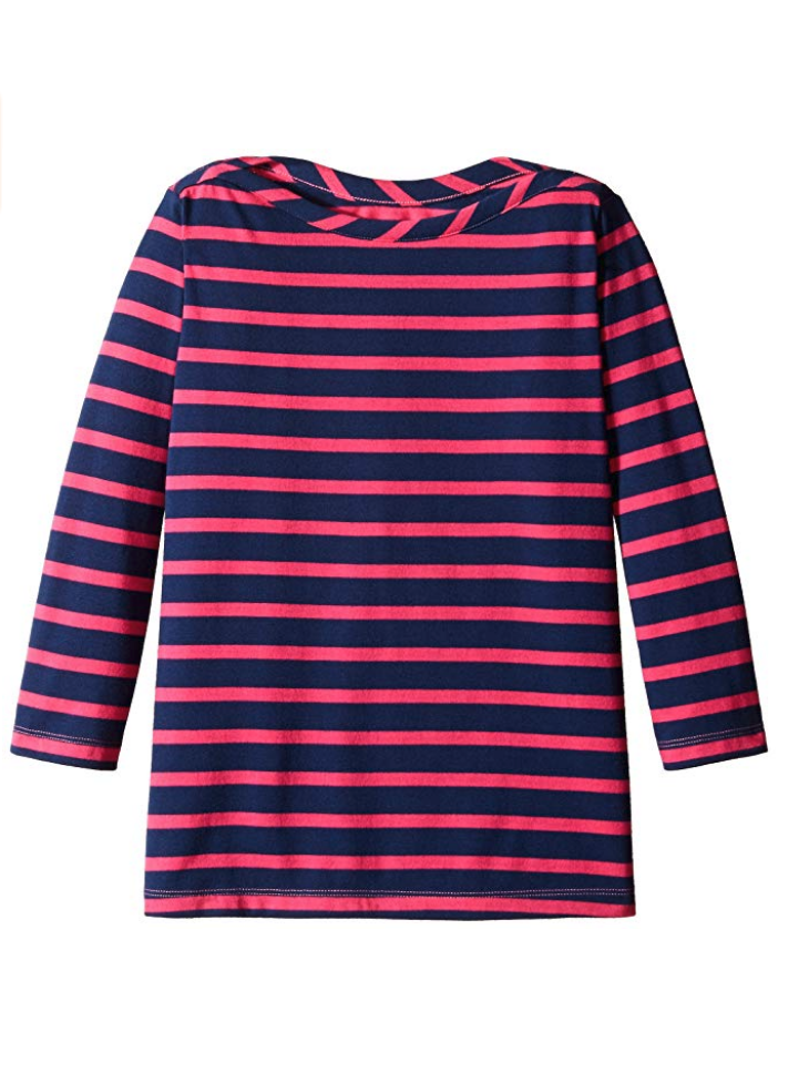 Adorable boat neck striped top from Scout and Ro, one of Amazon's private label fashion lines.