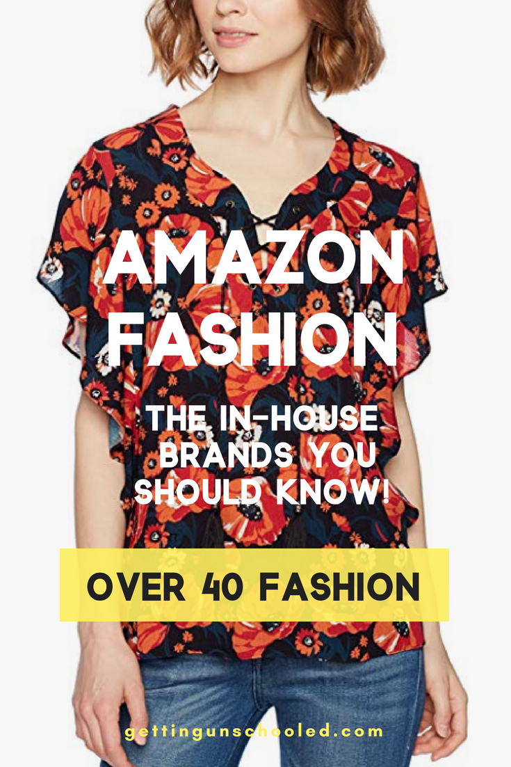 Amazon has a slew of really great in-house/private label brands and I'm showcasing 10 of them on the blog today--these are some of the brands from Amazon's Fashion Department that you NEED to know!  They have lots of style and size variety!  #over40 #over40fashion #over40style #womensstyle #amazonfinds