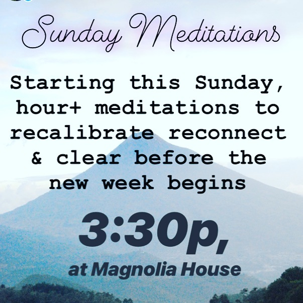 Guided meditations to help you clear whatever needs to go, calm & center to prepare for what comes ahead. Bring something to sit or lay on. $20 suggested donation 🖤
