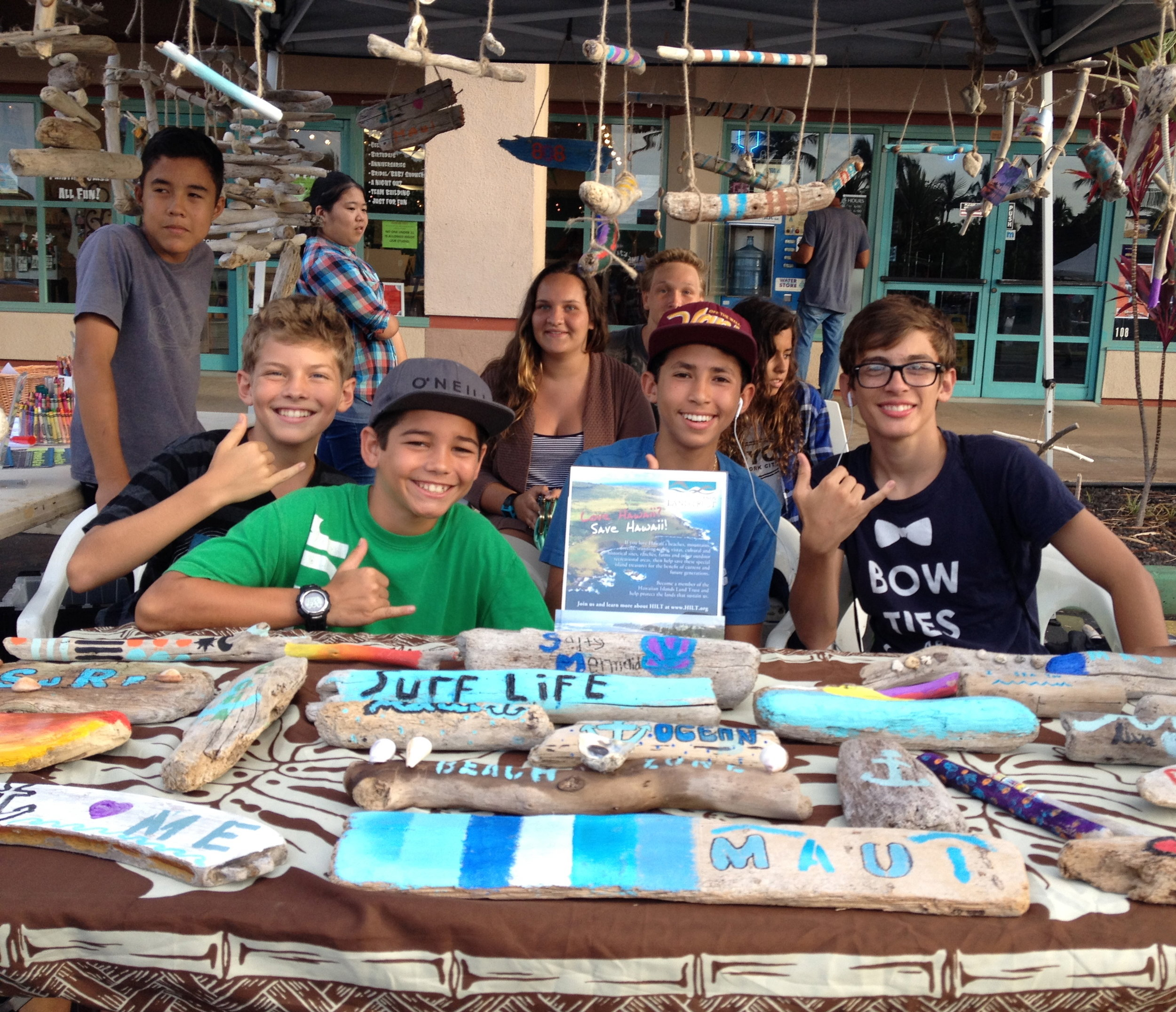 Kihei Charter School Students Selling Their Art for HILT Memberships