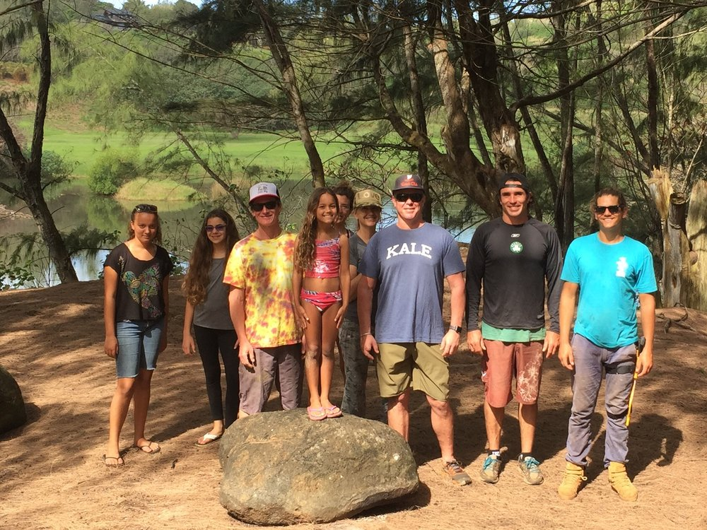 Volunteers at Kahili Beach, Kauai