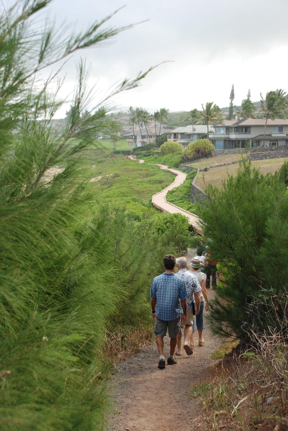 Hikers enjoy the Kapalua Coastal Trail