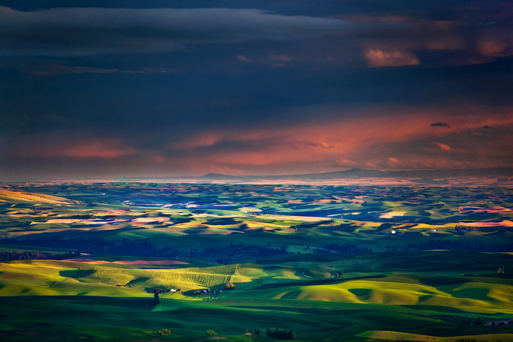 Palouse Hills at Sunset