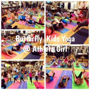 Butterfly Kids Yoga @ Athleta Girl