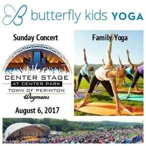 Family Yoga @ Perinton Concert Series   Sunday, August 6 @ 5:15PM. Click for details .