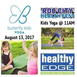 KIDS YOGA @ ROC CITY HEALTH & MUSIC FEST: SUNDAY, 8/13 @ 11AM