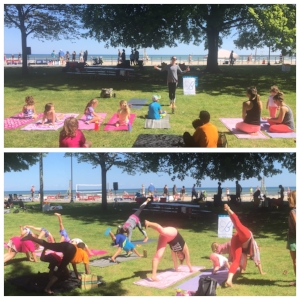 Butterfly Kids Yoga takes it outdoors at the ROC City Health and Music Fest!