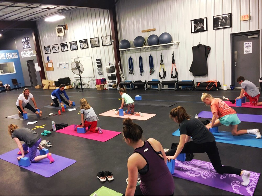 Awesome Yoga for Athletes session at Next Level this weekend. Great job, athletes! Weekly classes begin next Sunday, 6/10 @ 4PM. Ages 8+.  Click here for passes & info .
