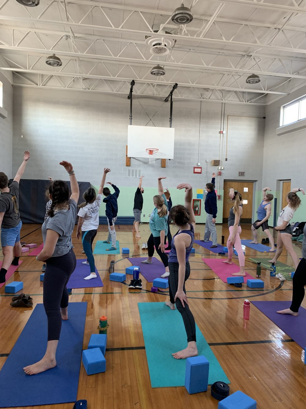 Yoga for Sports Teams . Extending and lengthening!