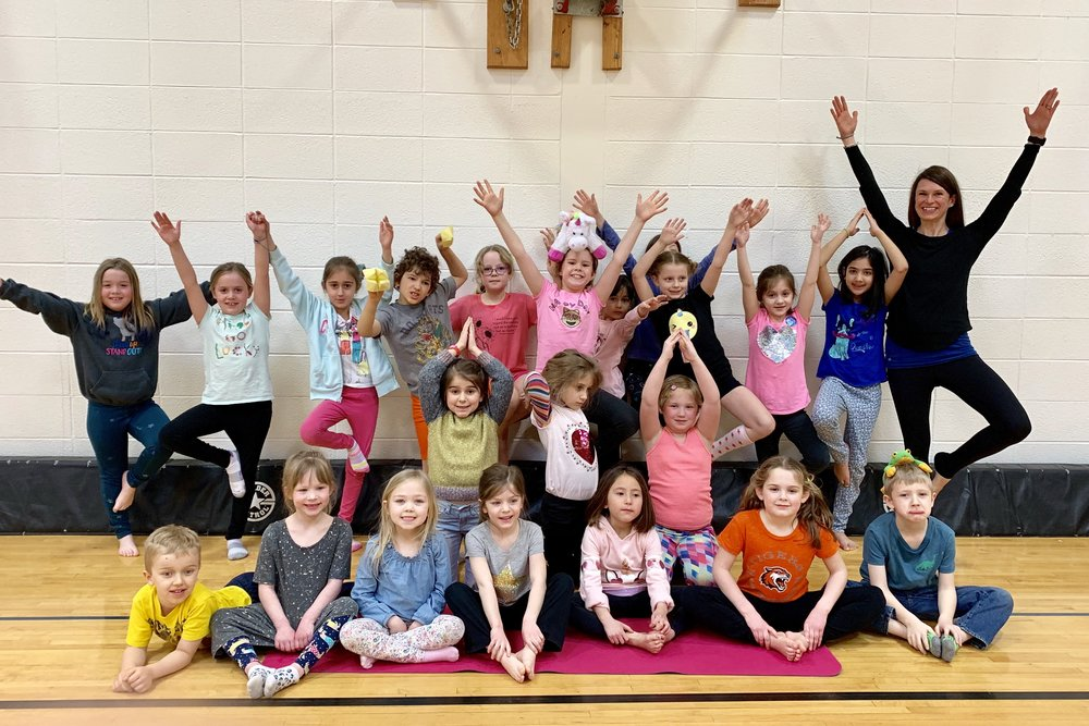 Yoga at school — awesome after school series with these talented kiddos!