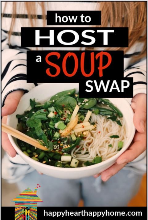 Soup's On! Amazing Recipes to Share Here's how to plan, prep and host a SOUPer swap party! From freezing tips to 3 awesome and easy soup recipes perfect for the occasion, this guide makes it easy.  http://www.happyhearthappyhome.com/blog/2018/12/14/how-to-host-a-soup-swap