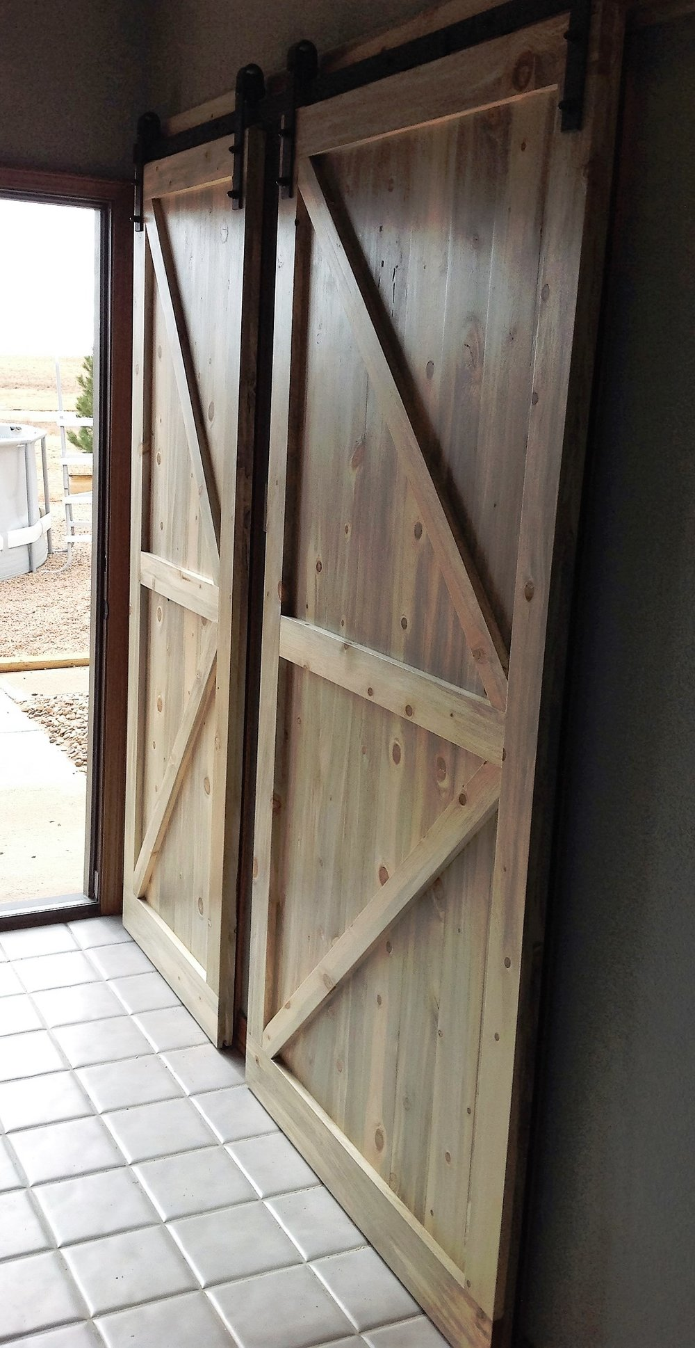 mirror barns finish product hardware wood steel doors storage new door barn with stainless handle sliding photo modern text