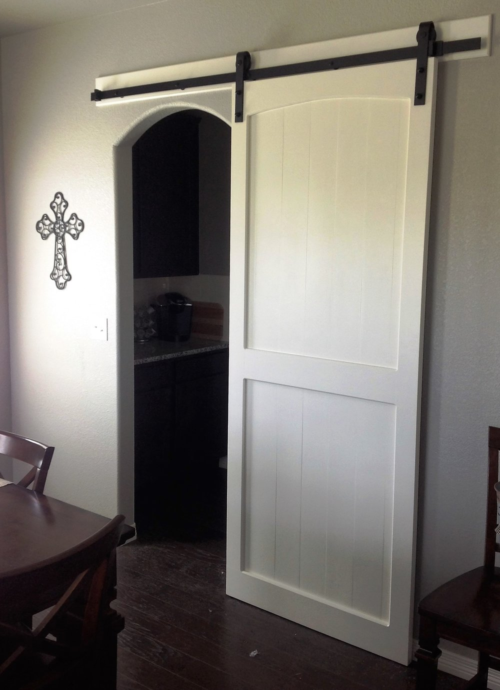 Painted Pine Sliding Barn Door
