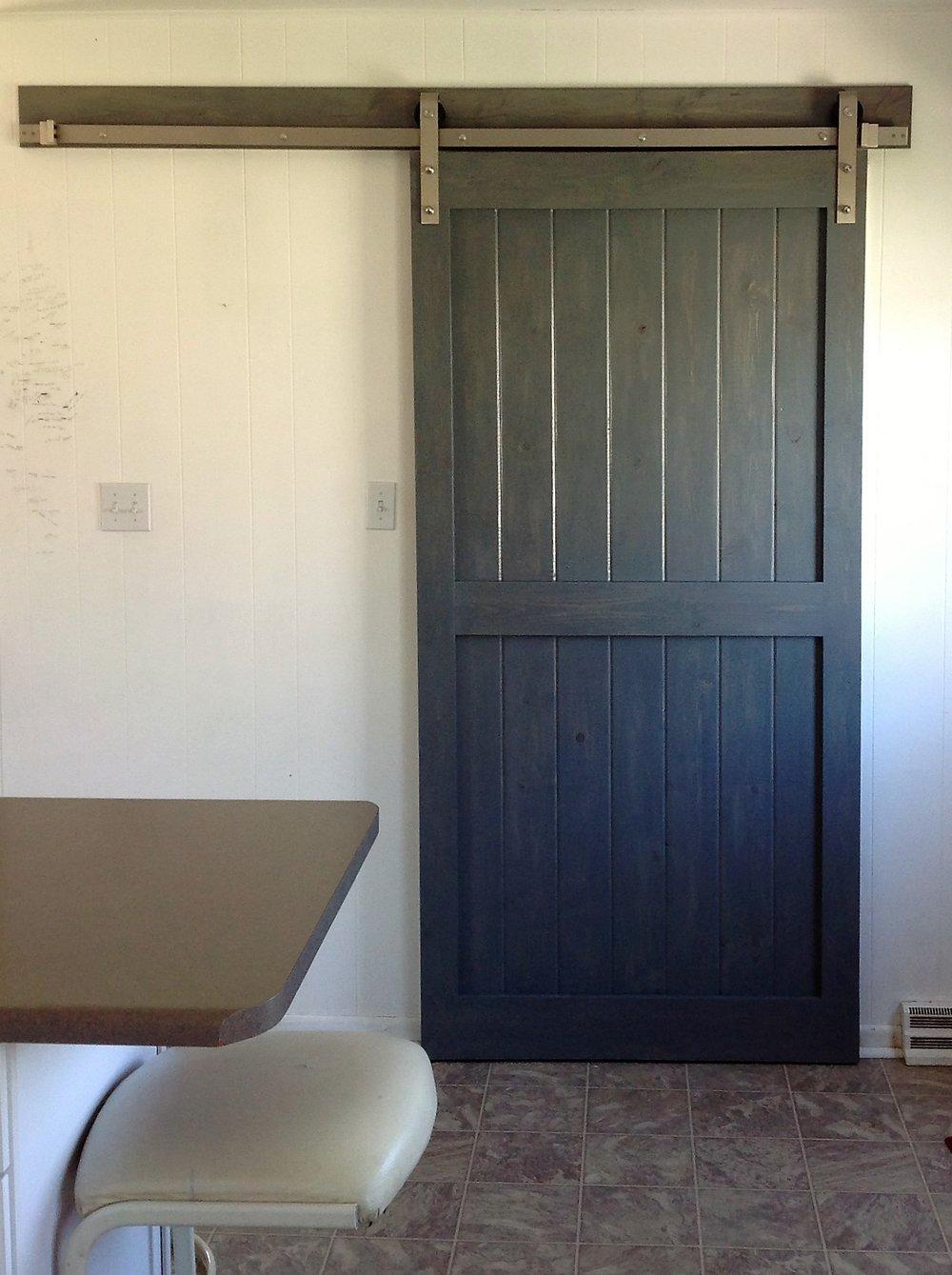 Stained Beatle Kill Pine Barn Door