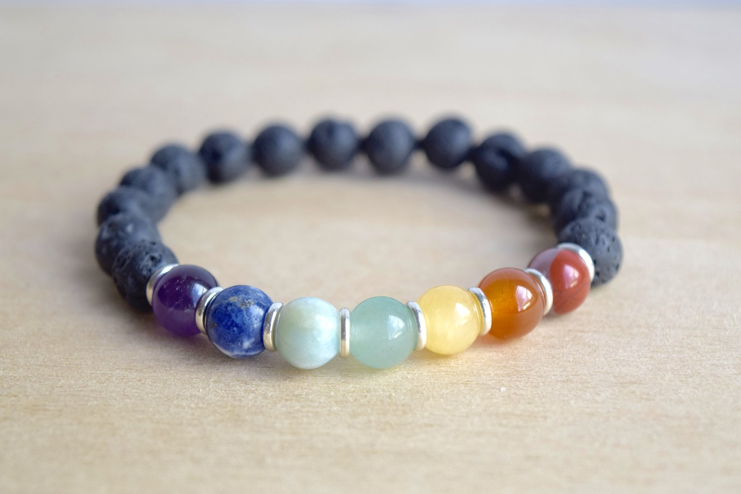 seven untitled zenup bracelet beads design crystal products chakras healing